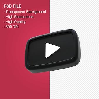 Youtube-logo 3d-rendering isoliert