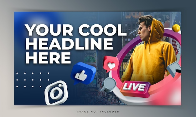 Youtube thumbnail für live-workshop-promotion-vorlage