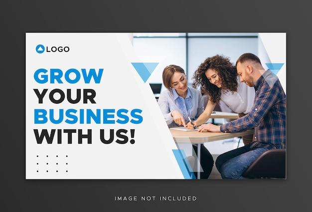 Youtube thumbnail für workshop business promotion vorlage