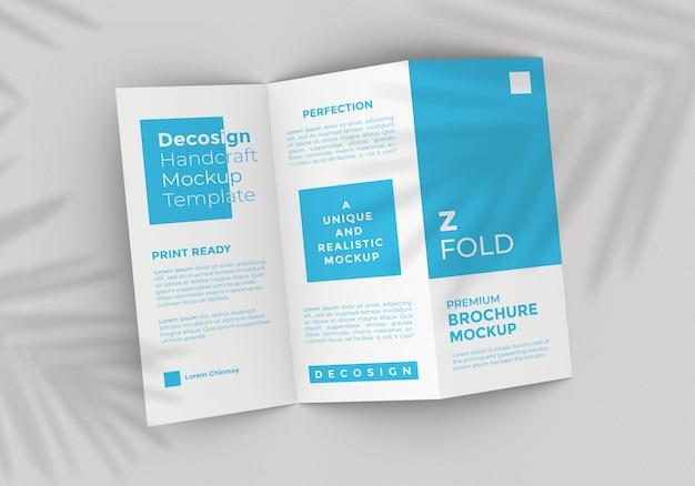 Z fold brochure mockup template