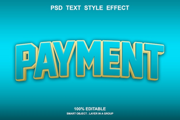 Zahlungstextstil-effekt