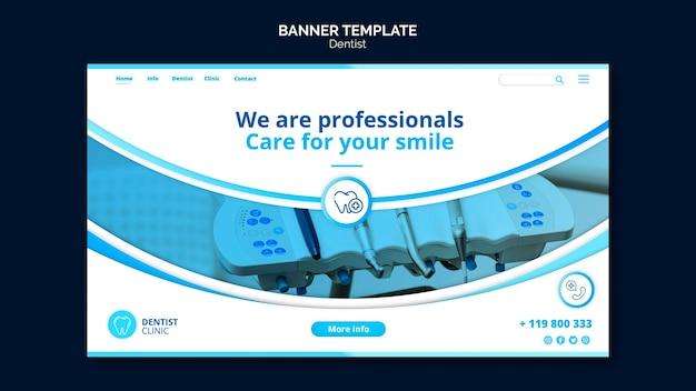 Zahnarzt banner vorlage thema