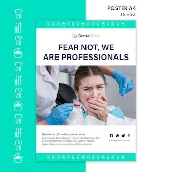 Zahnarzt poster vorlage