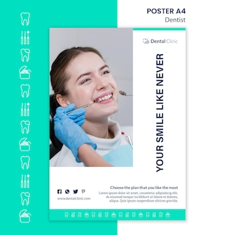 Zahnarztplakatschablonenentwurf