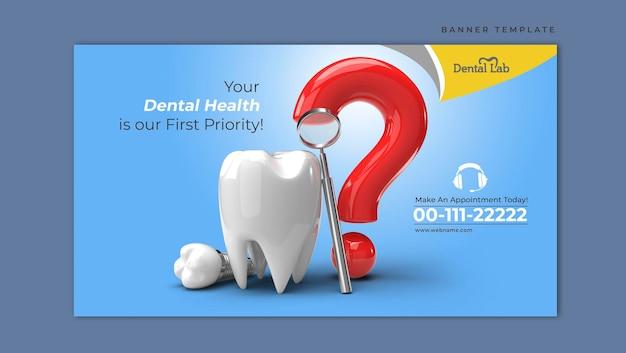 Zahnimplantate chirurgie konzept horizontale banner vorlage.
