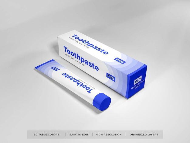 Zahnpasta verpackung 3d mockup