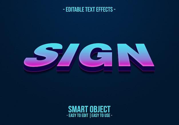 Zeichen textstil effekt