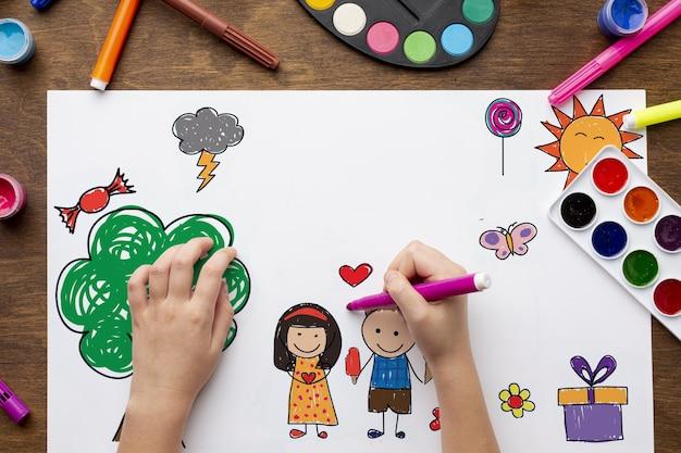Zeichnen mit aquarellen