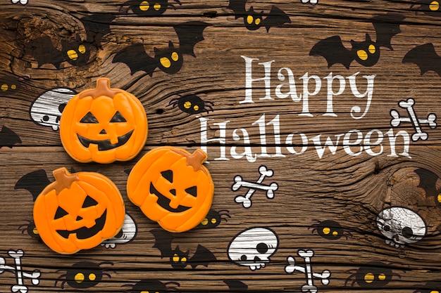 Zeichnen und behandelt für halloween-tag