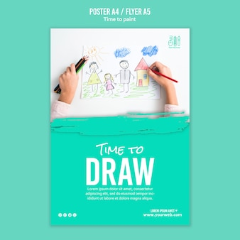 Zeit, flyer design zu malen
