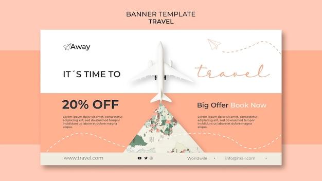 Zeit zu reisen mit rabatt banner vorlage
