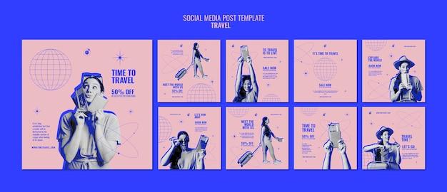 Zeit zum reisen social-media-beiträge