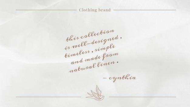 Zeitlose modevorlage psd für social media banner