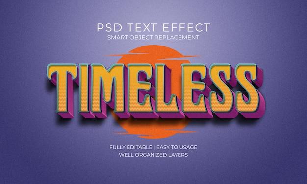 Zeitloser weinlese-text-effekt