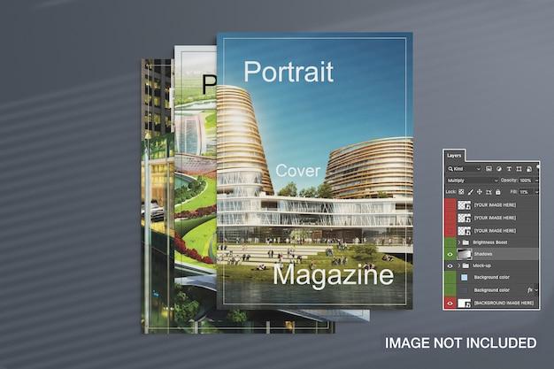 Zeitschriften decken modell ab