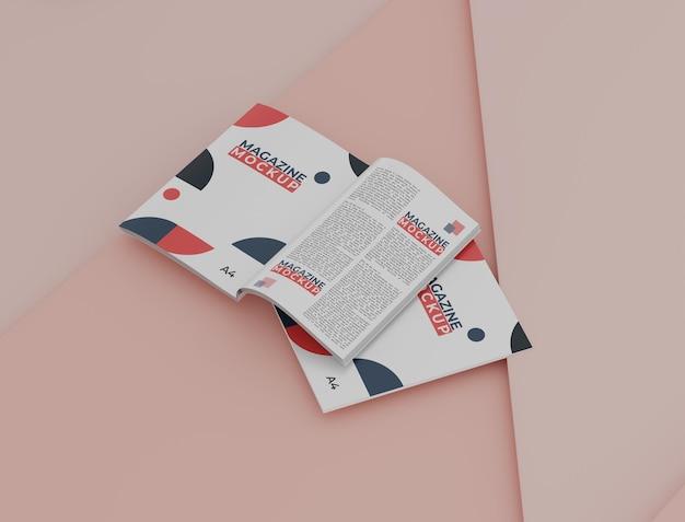 Zeitschriftenmodell mit einem einfachen konzept