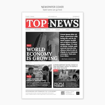 Zeitungscover mit wichtigen kopftiteln