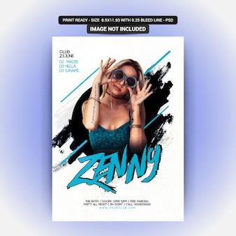 Zenny party flyer vorlage