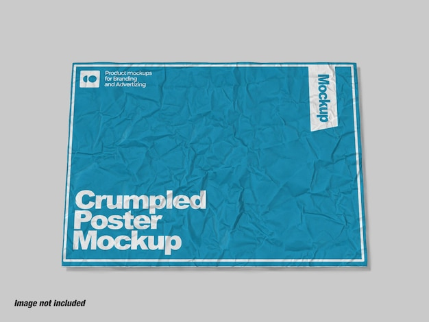 Zerknittertes papier für poster oder flyer mockup