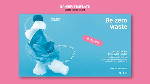 Zero waste banner-vorlage