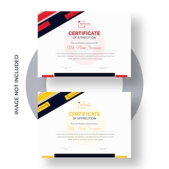 Zertifikat-leistungsvorlage