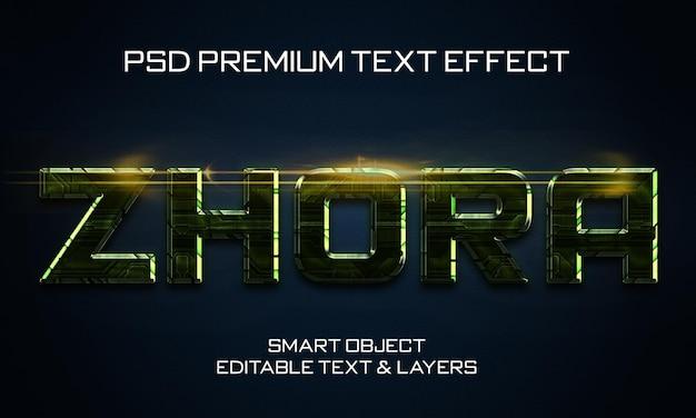 Zhora scifi texteffekt-design