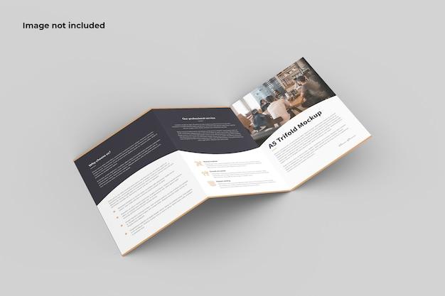 Zick-zack-broschüre modell