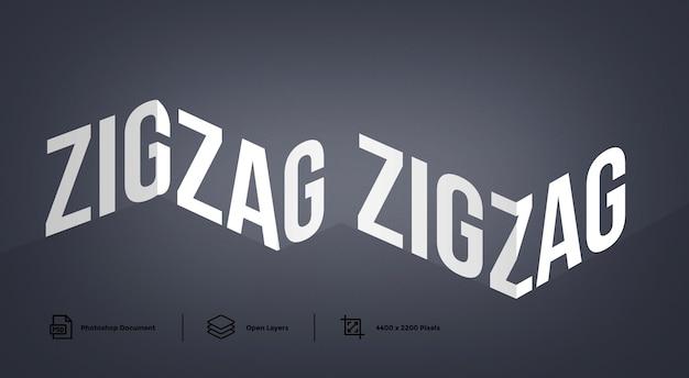 Zick-zack-texteffekt-entwurfsvorlage