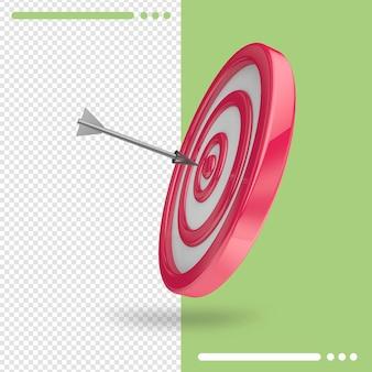 Ziele 3d-rendering isoliert