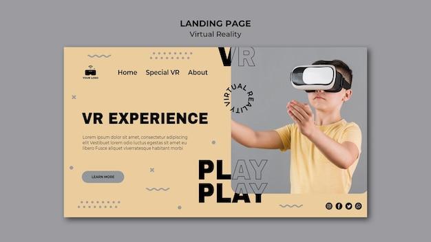 Zielseite der virtuellen realität