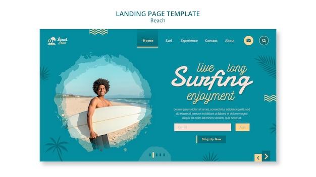 Zielseitenvorlage für die surfzeit