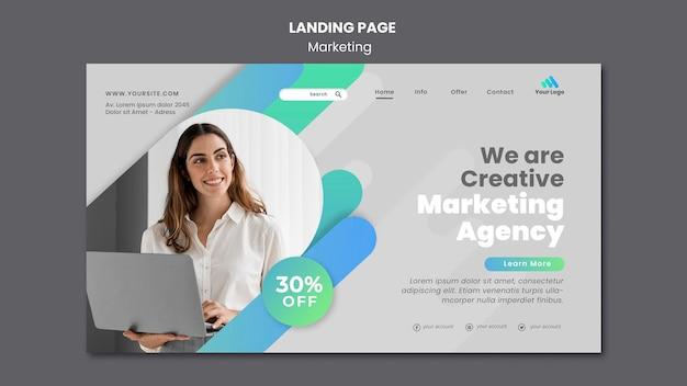 Zielseitenvorlage für digitales marketing Kostenlosen PSD