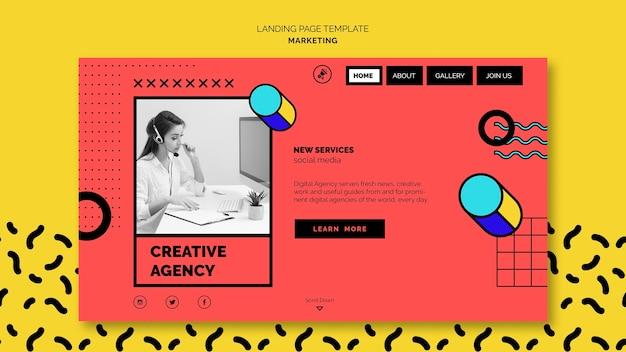 Zielseitenvorlage für digitales marketing