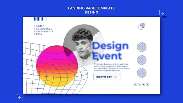Zielseitenvorlage für events entwerfen