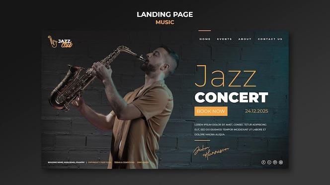 Zielseitenvorlage für jazzkonzerte