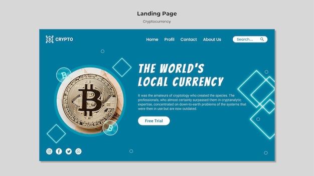 Zielseitenvorlage für kryptowährungen