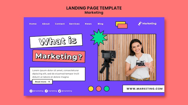 Zielseitenvorlage für marketingstrategie