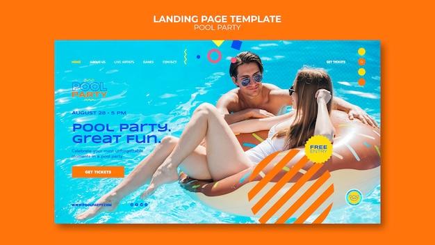 Zielseitenvorlage für poolpartys