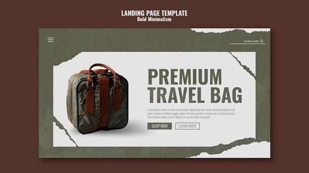 Zielseitenvorlage für reisetaschen