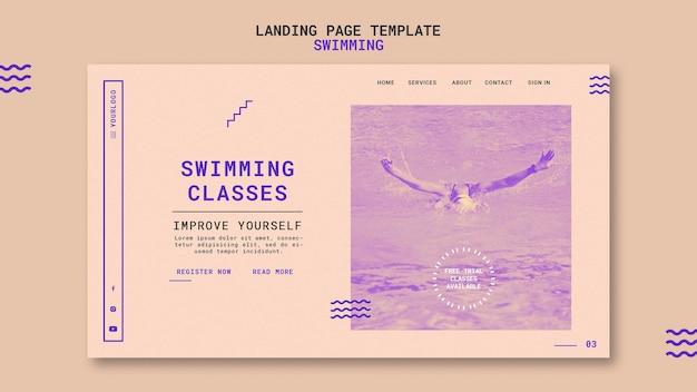 Zielseitenvorlage für schwimmkurse