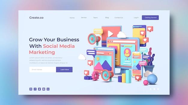 Zielseitenvorlage für social media marketing