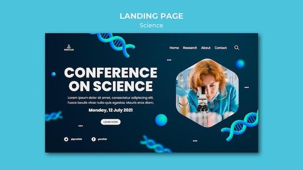 Zielseitenvorlage für wissenschaft page