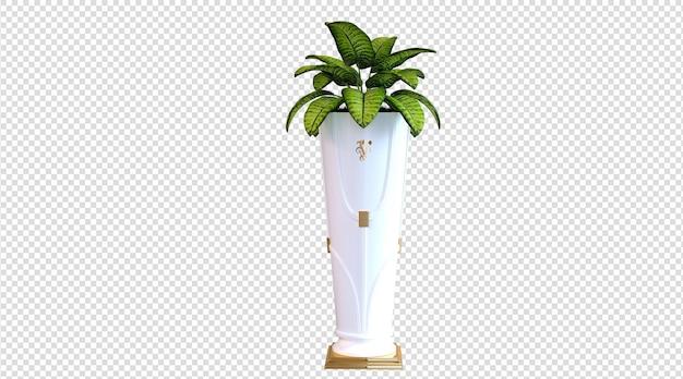 Zimmerpflanzen im keramiktopf 3d-rendering