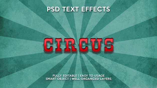 Zirkus-texteffekte