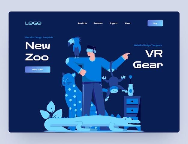 Zoo mit virtual-reality-website