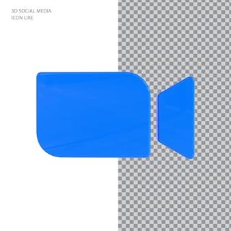 Zoom-symbol 3d-rendering