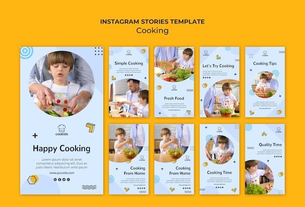Zu hause kochen instagram geschichten