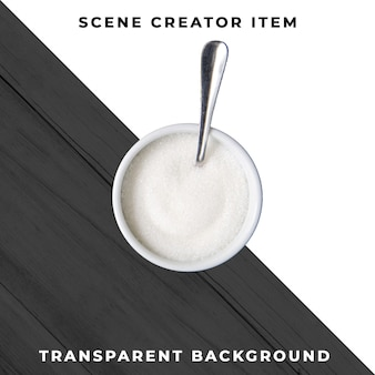 Zuckerhalter auf transparentem hintergrund