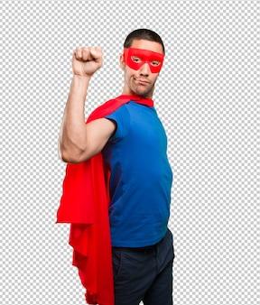 Zufriedene superhelden feiern