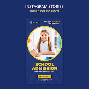 Zurück zu schule instagram geschichten vorlage